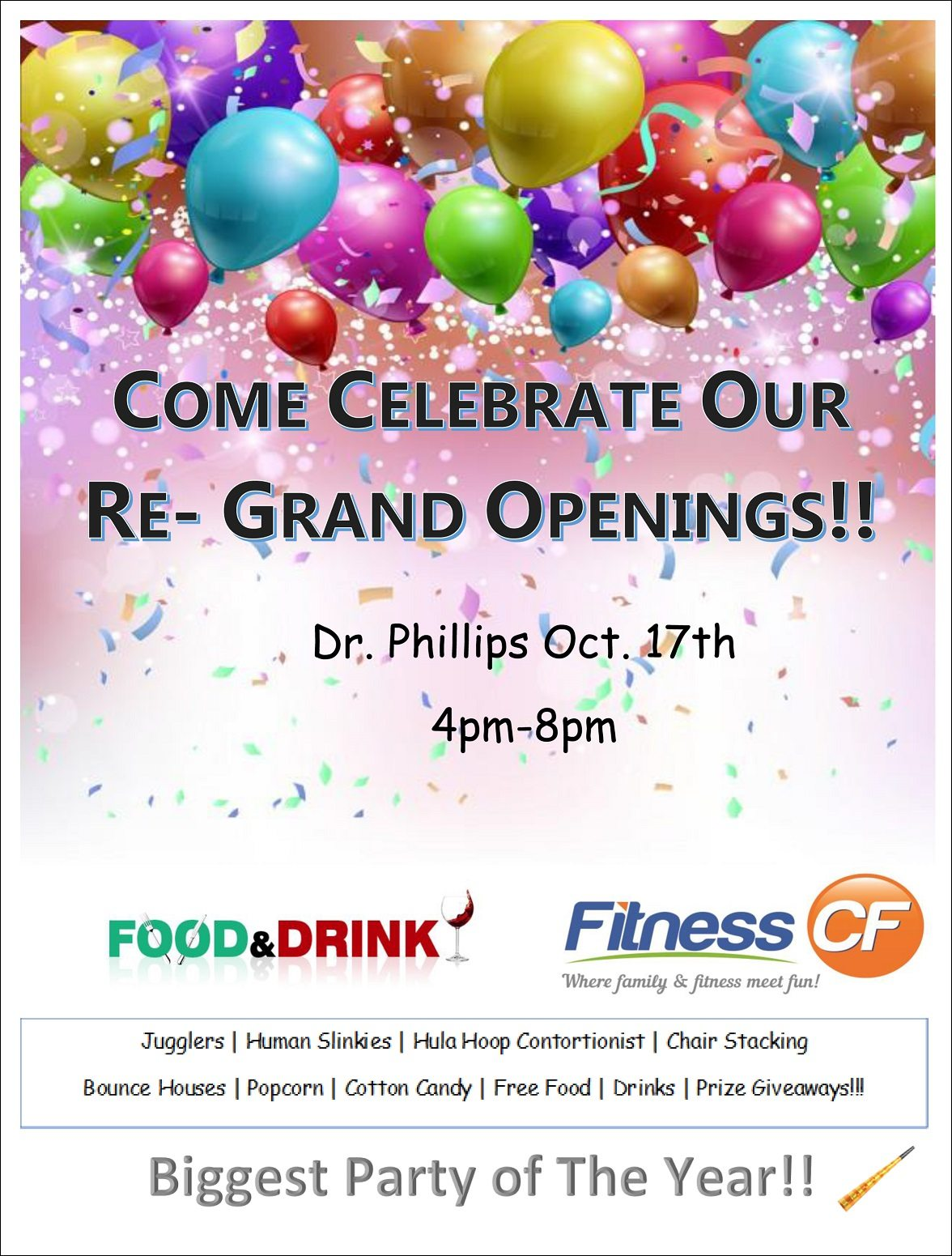 Fitness CF Orlando Re-Grand Opening Event