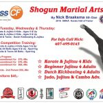 Fitness CF St. Cloud Martial Arts Fall Schedule!
